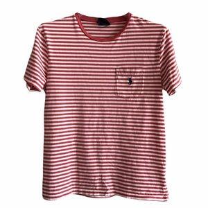 Polo by Ralph Lauren Striped 100% Cotton T-Shirt S